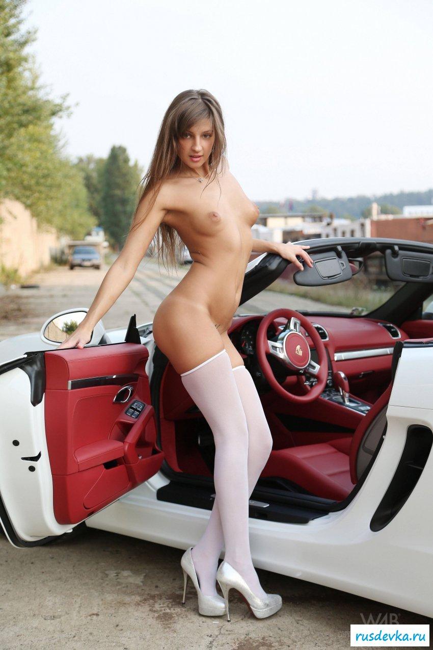 Nude girls race cars